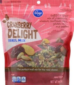 Kroger Cranberry Delight Trail Mix Listeria Recall