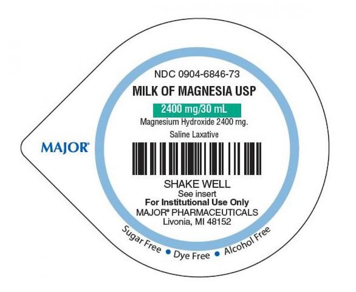 Major Pharmaceuticals Milk of Magnesia Recalled For Microbial Contamination