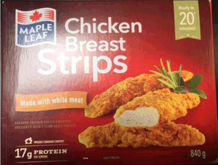 Maple Leaf Chicken Staphylococcus Recall