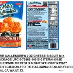 Marie Callender's Biscuit Mix E. coli O121 Recall