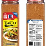 McCormick Recalls Taco Seasoning Mix for Undeclared Milk