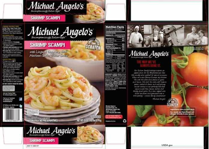 Michael Angelo's Shrimp Scampi Recall