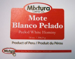 Mixtura Peeled White Hominy Recall