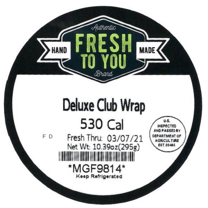 More MG Foods Fresh to You Turkey Wraps Recalled For Possible Listeria