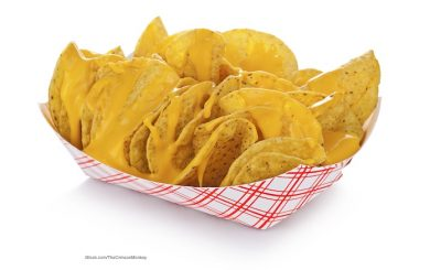 Nacho Cheese Sauce on Tortilla Chips