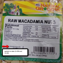 Natural Grocers Macadamia Nuts Salmonella Recall