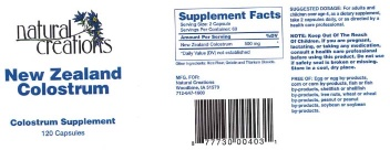 New Zealand Colostrum Supplement Recall