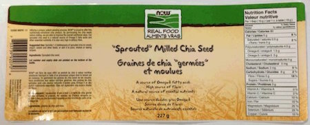 Now Real Food Sprouted Chia Seed Salmonella Recall