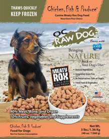 OC Raw Dog Frozen Food Salmonella Recall
