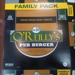 JP O'Reilly's Burgers and Patties Recalled for Undeclared Milk