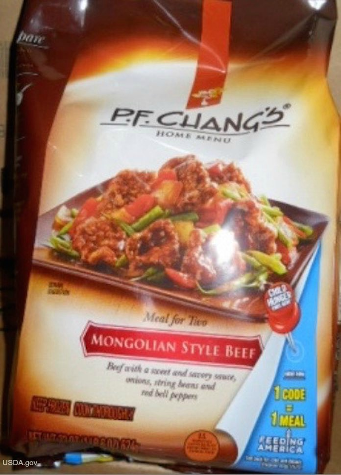 P.F. Chang Frozen Entree Recall