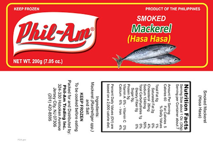 Phil Am Smoked Mackerel Botulism Recall