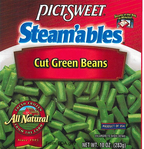 PictSweet Green Beans Listeria Recall