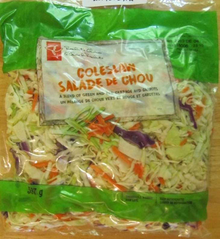 President's Choice Coleslaw Recalled For Possible Salmonella