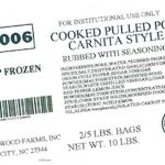 Brookwood Farms Recalls Pulled Pork for Undeclared Soy