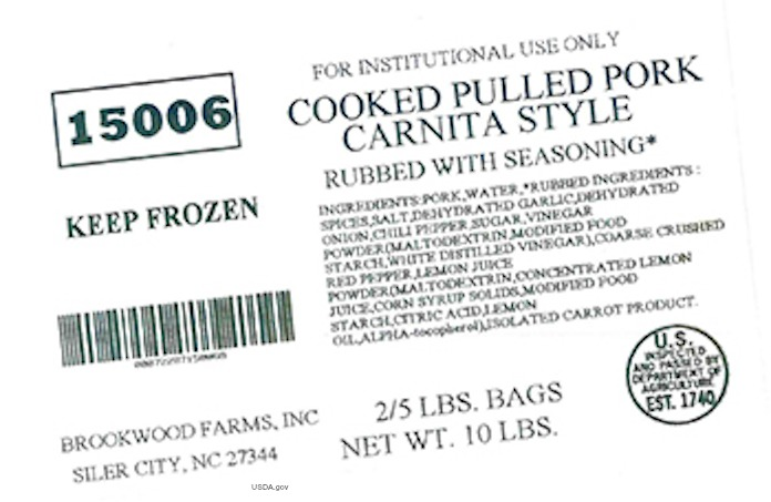 Pulled Pork Carnita Style Allergen Recall