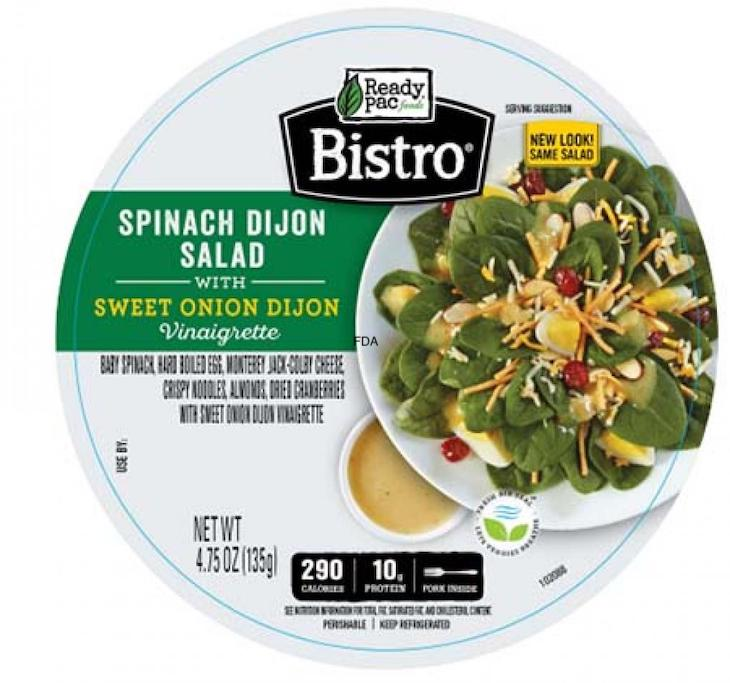 Ready Pack Bistro Bowl Spinach Dijon Salad Recalled For Allergens