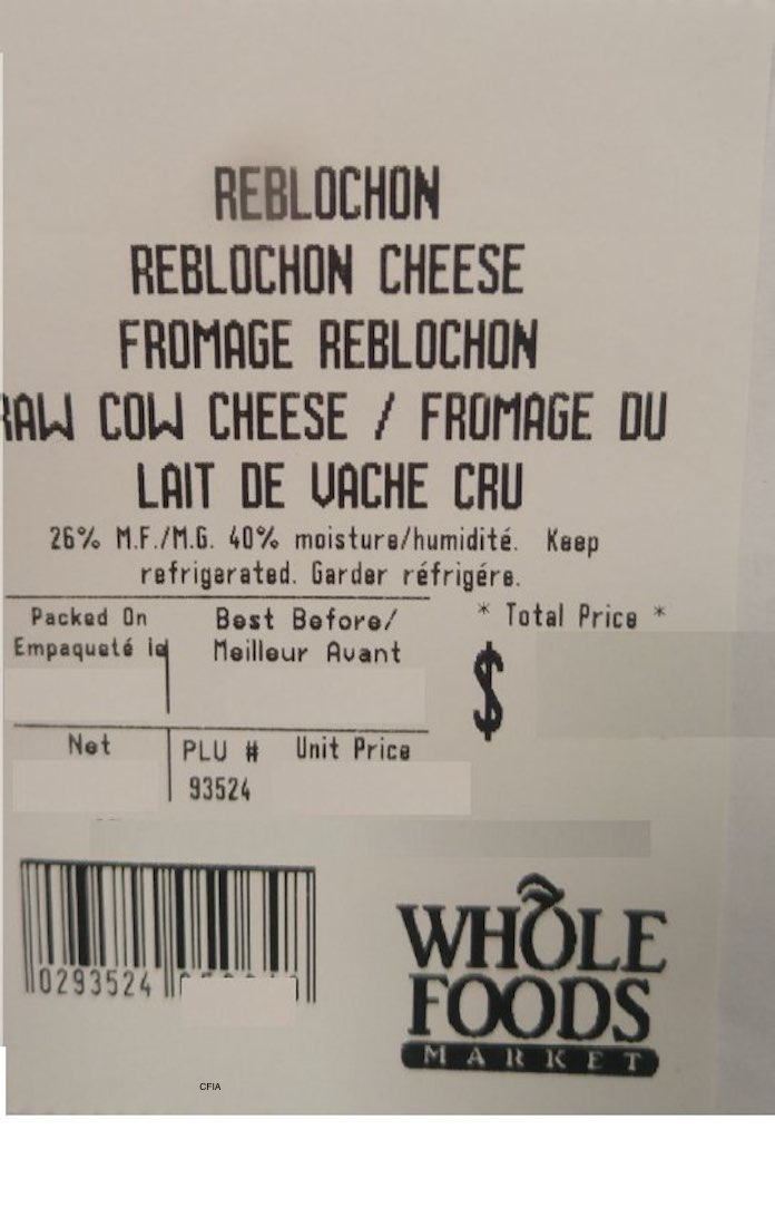 Reblochon Cheese Recall