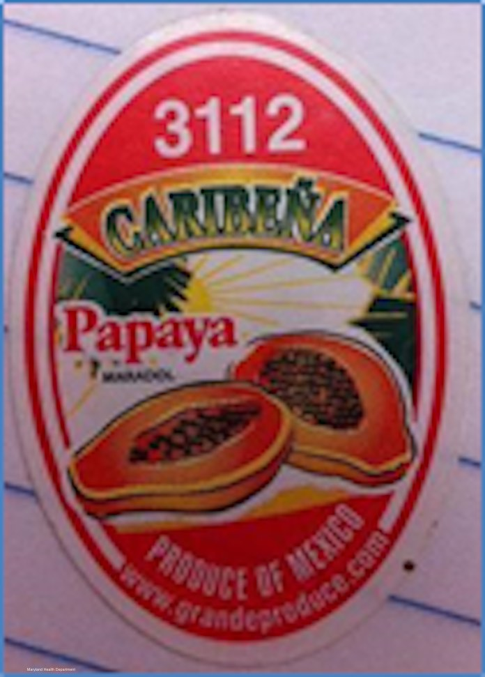 Recalled Papayas Salmonela
