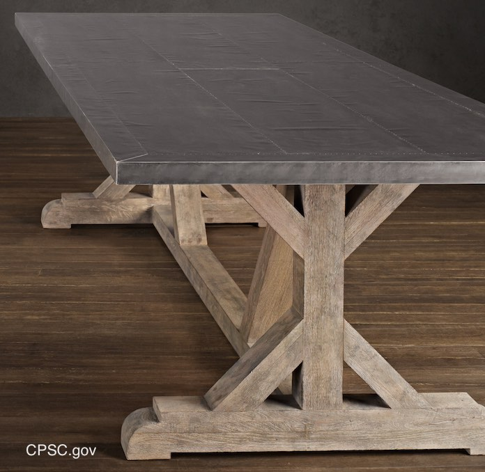 Restoration Hardware Lead Recalled Table