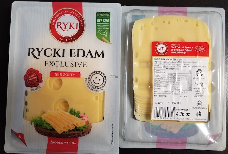 Ryki Rycki Edam Cheese Recall For Possible Listeria Updated