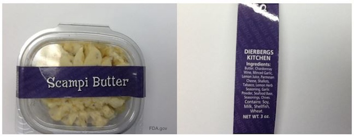 Scampi Butter Recall