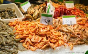 Assorted shrimps label