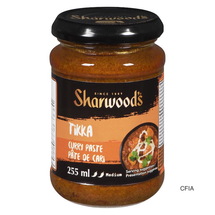 Sharwood's Tikka Curry Paste Recalled in Canada For Mustard