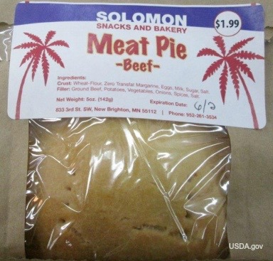 Sollomon Meat Pie Recall