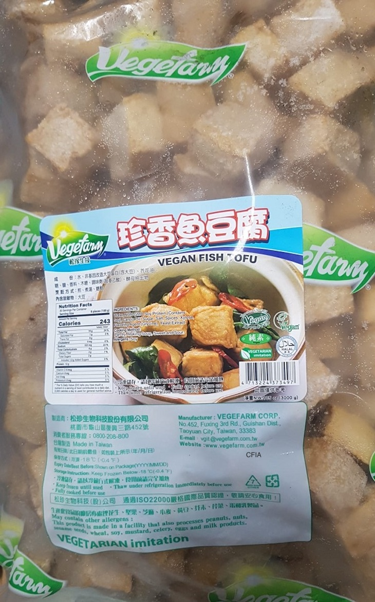 Some Happy Veggie World Products Recalled For Undeclared Egg