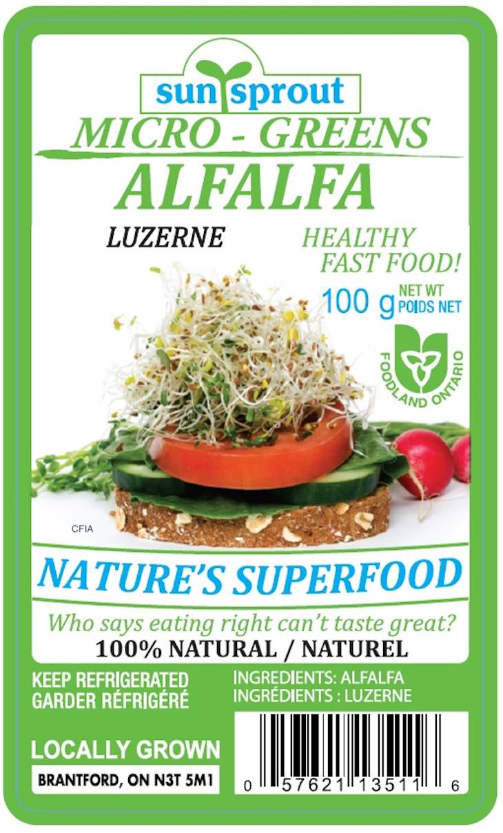 Sunsprout Micro Greens Recall in Canada Updated With More Info