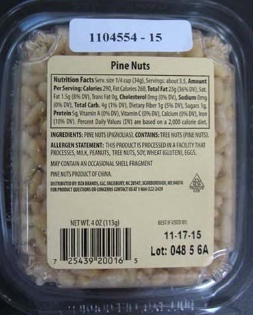 Superior Nut & Candy Salmonella Recalled Pine Nuts