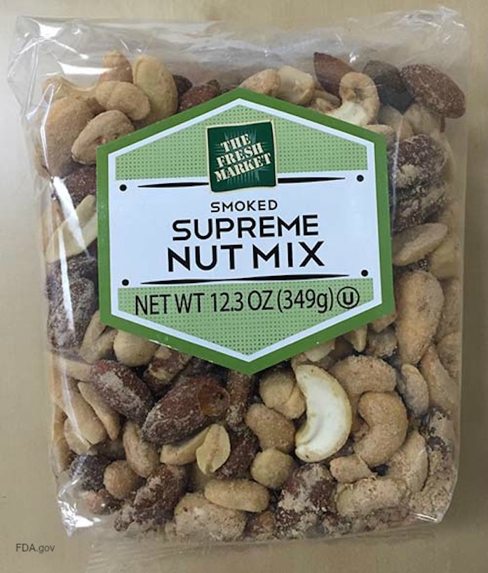 Supreme Nut Mix Peanut Soy Recall