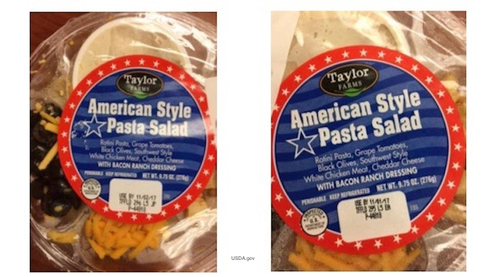 Taylor farms recalls chicken salad for undeclared fish for Taylor fish farm