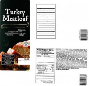 Taylor Farms Turkey Meatloaf Recall