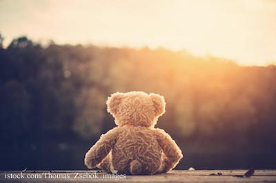Teddy Bear Mouring the Loss of a Child