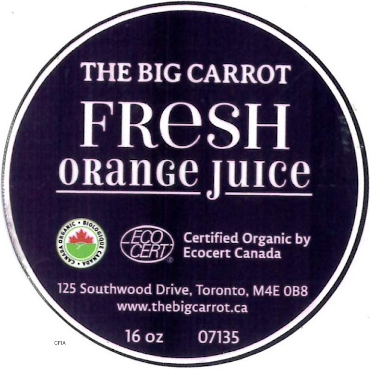 The Big Carrot Juice Products Recalled For Pieces of Glass