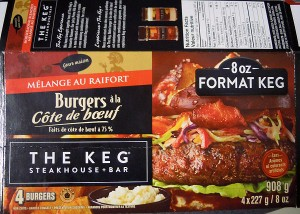 The Keg Burger Food Allergen Recall