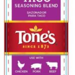 Tone's Taco Seasoning Blend Recalled For Undeclared Wheat