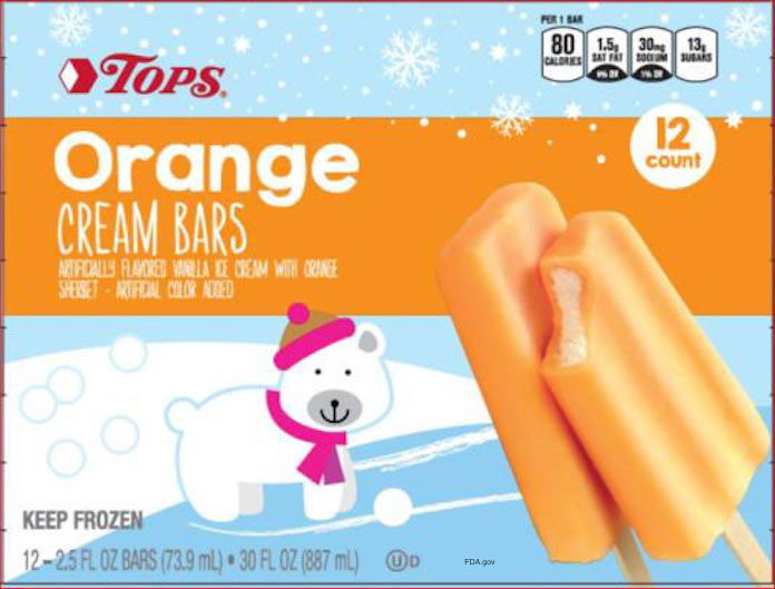 Tops Orange Cream Bars Listeria Recall