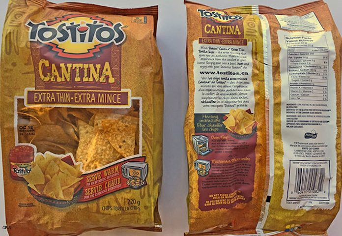 Tostitos Cantinas Tortilla Chips Recall