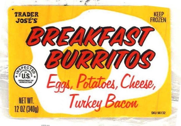 Trader Joe Breakfast Burrito Recall