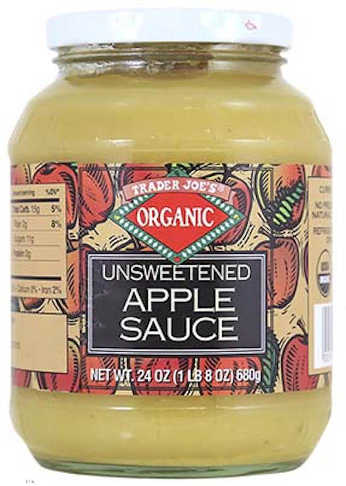Trader Joe's Apple Sauce Recall