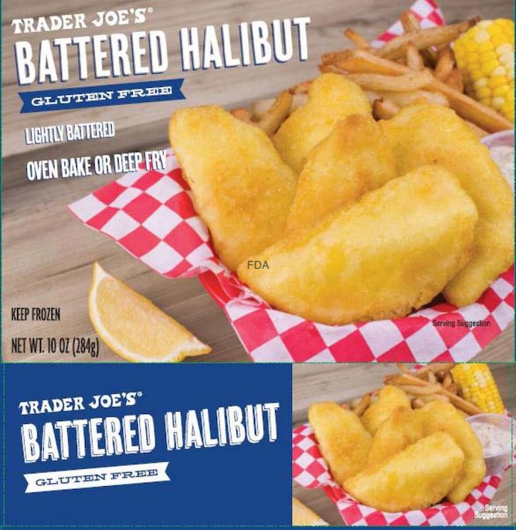 Trader Joe's Gluten Free Battered Halibut Recalled For Wheat