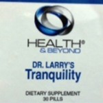 Dietary Supplement Recall Number Two Today: Tranquility
