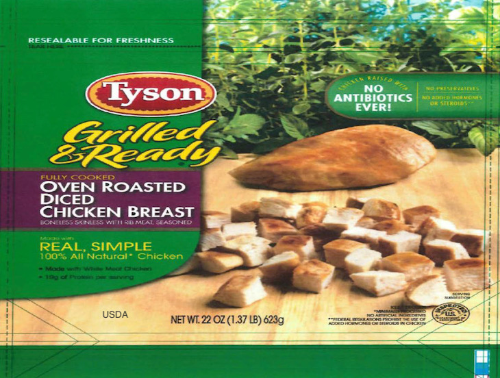 Tyson Ready-to-Eat Chicken Products Recalled For Possible Listeria