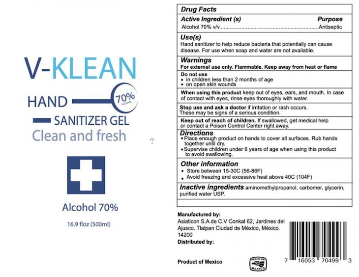 V Klean Hand Sanitizer Gel, Others Recalled For Undeclared Methanol