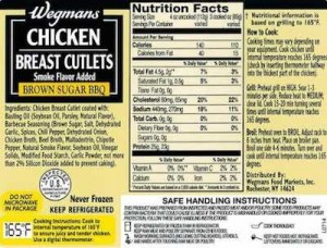 Wegmans Recalled Chicken Products