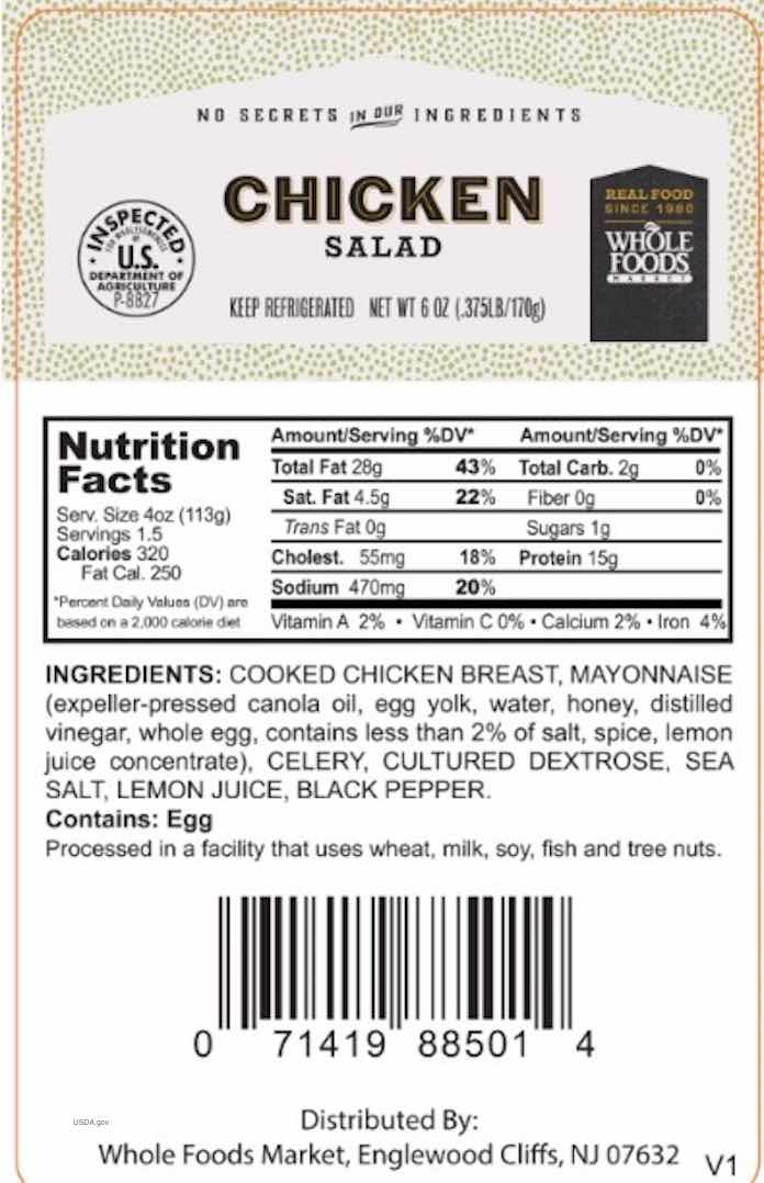 Whole Foods Chicken Salad Recall