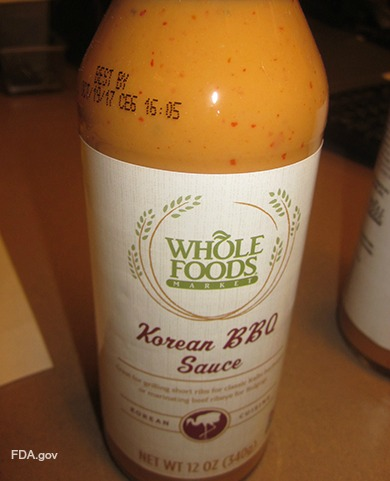 Whole Foods Korean BBQ Sauce Recall